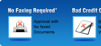 No Faxing Required - Bad Credit OK